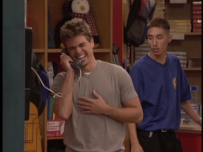 Matt laughing his head off on the phone. XD