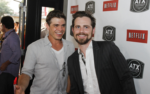 Matthew with Rider Strong who has a mustache and a beard. :)