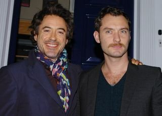 Robert Downey Jr with Jude Law :)