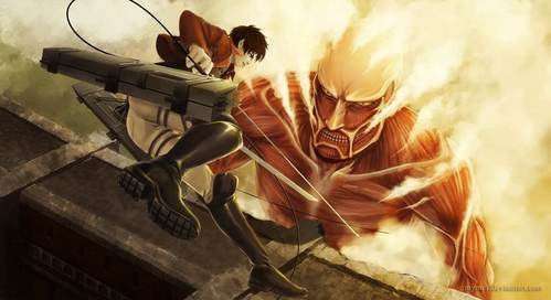 Attack On Titan is amazing! Assuming your okay with blood and people dieing, it's very intense and exciting!