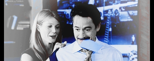 Stark and Pepper and blue *-*