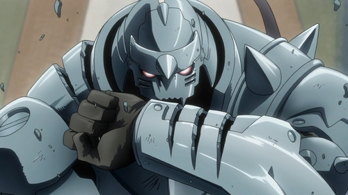 HELLO PEOPLE!!!!!!! The very first person i think of doesn't where a suit, but it's his body :) Alphonse Elric <3 Frome Fullmetal Alchemist Brotherhood (^3^)