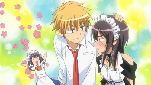Usui and Misaki from Kaichou Wa Maid-sama!! They're kawaii and I like them!! I also like Usui <3