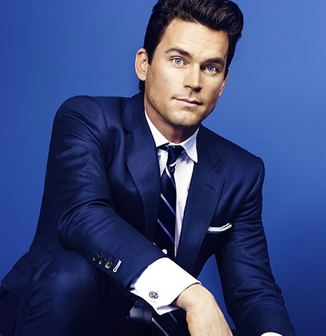 Matt Bomer blue background, blue suit and blue eyes to finish it all off :)