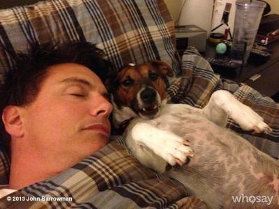 John Barrowman and his dog, Jack!