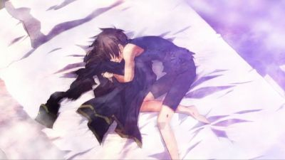 When Mikage dies after being possessed and hurt da a cruel person. Teito gets very depressed. Then Mikage later gets reborn. The Anime is 07-Ghost.