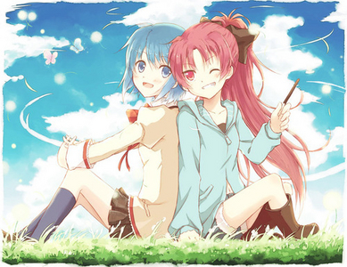 Kyoko tried to kill Sayaka on their first encounter but they became Friends after.