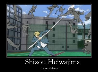 Not in order Beelzebub - Kunieda Aoi Gintama - Hijikata Toshiro Reborn - Hibari Kyoya Black Lagoon - Revy Durarara - Heiwajima Shizuo(picture)