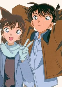 Ran Mouri and Shinichi Kudo from Meitantei Conan...