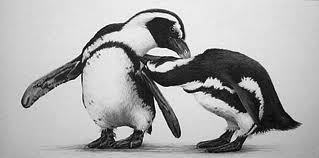 Well when penguins preen each other they straighten and clean their feathers with their beak. It's not really kissing and I agree with the others I'm pretty sure he's smiling because he's making Skipper uncomfortable.