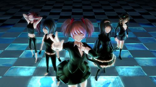 The characters from Puella Magi Madoka Magica because I liked the art