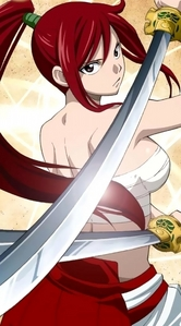 Erza Scarlet from Fairy Tail.