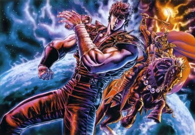 Fist of the North Star. Now, exploding heads aren't really my thing, but I can put up with it for a good dose of badass.