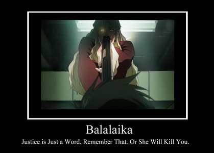 Balalaika from Black Lagoon. I am not sure if she is still considered as girl though.