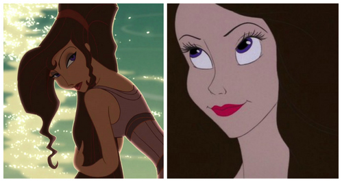 I think you're sort of like a mixture of Megara from Hercules and Vanessa from The Little Mermaid. Pretty. =)