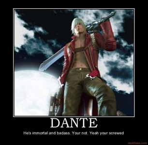 Dante from Devil May Cry 1+2+3+4. He's actually the most badass character I've ever seen. The new Dante in DmC (the 5th game) is NOT cool though, he's nothing like the original Dante!