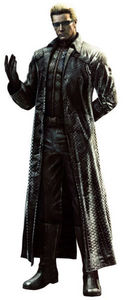 Albert Wesker... one of the most evil, no-good, pain in the ezel to kill, psycho villain i know... he's from Resident Evil...