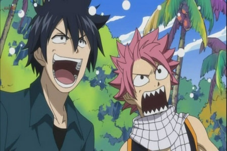Gray and Natzu from Fairytail I l'amour this XD