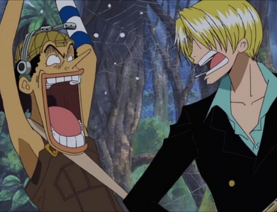 Here's a couple of epic expressions from Usopp and Sanji from One Piece!xp