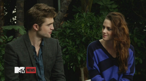 my baby talking with Kristen during an MTV special<3