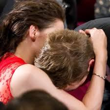 my baby with Kristen Stewart at Cannes in 2012 as she whispers sweet nothings in his ear<3