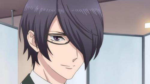 He has black hair AND a mole kwa his eye :D Yay. I actually don't like him though lol/