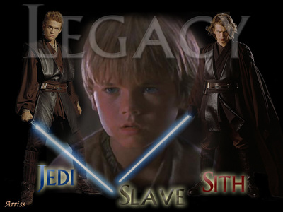 Anakin Skywalker/Darth Vader who is in all 6 movies(3 as Anakin,3 as Darth Vader)