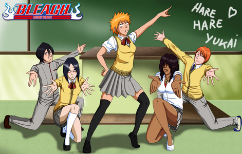 Bleach crossdressing.......!!!! they all look hilarious........he he ehe