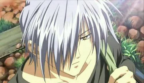 Yukito (Air) always has hair in his face. bạn know, when I do that, my mother gets upset with me.
