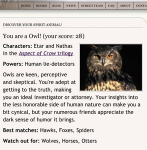 An owl . I think it got it right . Especially the skeptical part .