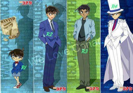 Conan, Shinichi, Heiji, & Kaito Kid from Detective Conan/Case Closed.