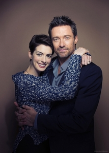 Hugh Jackman with Anne Hathaway<3