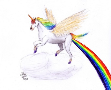 bạn know the usual. Flying around on my magical Pegasus/unicorn, trying to escape a talking knife.