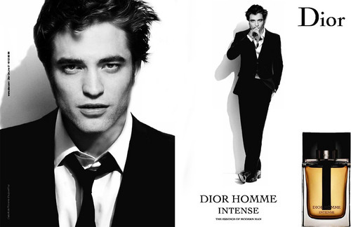 Robert with his gorgeous face on the Dior Homme cologne ad<3