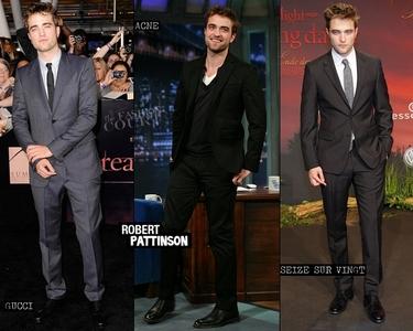 Robert looking soooooooo sexy and yummy in black<3