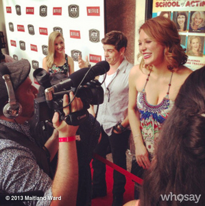 Matthew standing beside with one of his co-stars from BMW, maitland Ward. :)