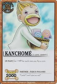 Kanchome from Zatch Bell. Kanchome loves to eat candy.