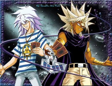 Either between Bakura or Marik