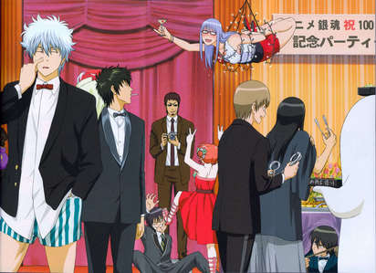 Gintama crew in tux... well atleast most of them are XD