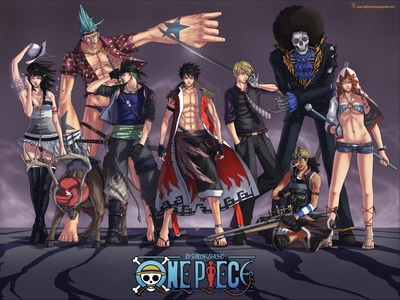 this is one of the awesomest pictures of the strawhat crew i have.