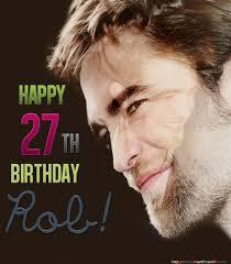 Robert who turned 27 on May 13<3