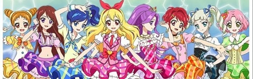 The closest I could find is Aikatsu. It's flipped, instead of all boys and one girl, it's all girls and one guy. They both take place in a school, and they both have characters that make me go WOW (e.g. Tamaki + Mizuki) Aikatsu is almost like a more kid friendly version of Ouran. All it needs is hosting. And they both have fabulous outfits. (Note: The guy is not pictured in the pic)