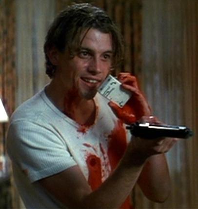 Skeet Ulrich who plays Billy Loomis in Scream as the main serial killer.