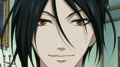 Sebastian (Black Butler) is often seen smiling, o rather smirking :)