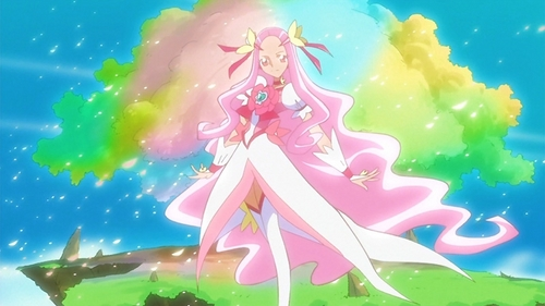 Hanasaki Kaoruko, ou Cure Flower. Age: 67, Cure fleur (shown below): age 17, from cœur, coeur Catch Pretty Cure.