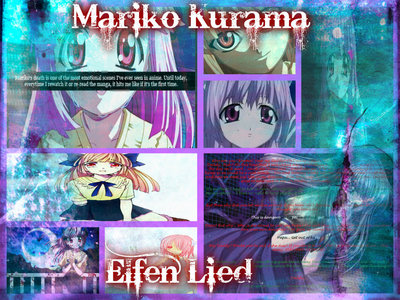 "For some reason I just think that Mariko Kurama  (elfen lied) is a pretty name. I like how it means ""true reason child"". Mariko can be also written using different kanji characters and can also mean: