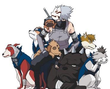 Kakashi & his ninja hounds (Naruto Shippuden)