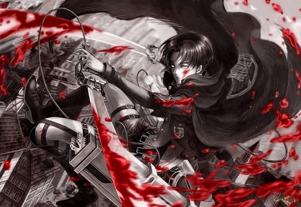 Levi rivaille from attak on titan;DDD