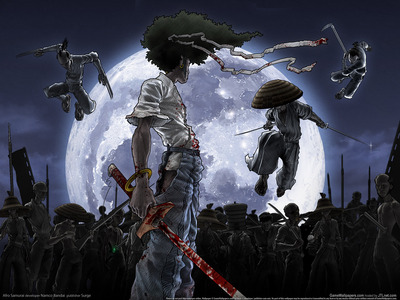 Afro Samurai had Japanese collaborators but is American made ( hope i'm understanding the domanda right) Actually there are several Japanese Anime that have had foreign backers to either continue the series o make Film of. Trigun, Tiger & Bunny and Panty calza, maglia rasata with Garterbelt as well as the Redline movie were specifically targeted with the western audience in mind. Which is the only reason Trigun & Tiger & Bunny and the re-vamp of Hellsing (Ultimate) got made. Arfo Samurai