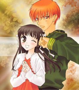 From the very begining, my very first anime Love was Kyo-kun from Fruits Basket yes i have many other anime Lovers, but Kyo will always be my first and Favourite <3 PICTURE---- Kyo with his Girl Tohru (^3^)
